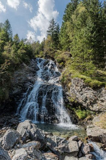 Bewegung Bäume Keine Menschen Landschaft Natur Schladminger Tauern Steiermark Steine Tag Tourismus Wandern Wasser Wasserfall Österreich