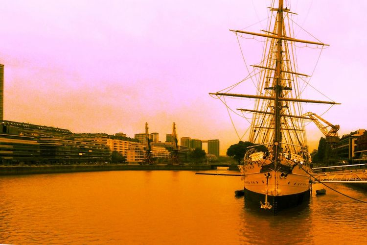 Puerto Madero Ship Sailingship River Buenosaires Port Puertomadero Autumn Colors