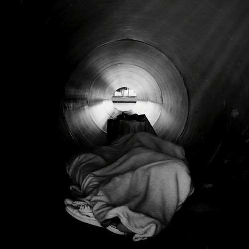 Closed in a Dream Mendicant Sleeping Black Hole Cold Days Tube Blackandwhite White Sheets Hopes And Dreams Dream Dreaming Thoughtoftheday Bad Day Sleep Out Every Night The Street Photographer - 2018 EyeEm Awards The Photojournalist - 2018 EyeEm Awards Creative Space