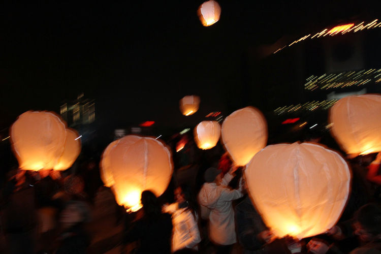 Sky lanterns floating in the sky. Sky lantern festival. Chinese sky lantern wallpaper. Diwali celebration – the festivals of the light. A Hindu festival of lights or releasing sky lanterns and make a wish for fun. Lighted lantern wallpaper. ASIA Cebration China Diwali Lights Sky Lanterns In The Sky Taiwan Thailand Wishes Candle Culture Deepavali  Fest Festival Fire Float Fun Hindu Illuminated Lantern Night Night Sky Sky Lanters Tradition