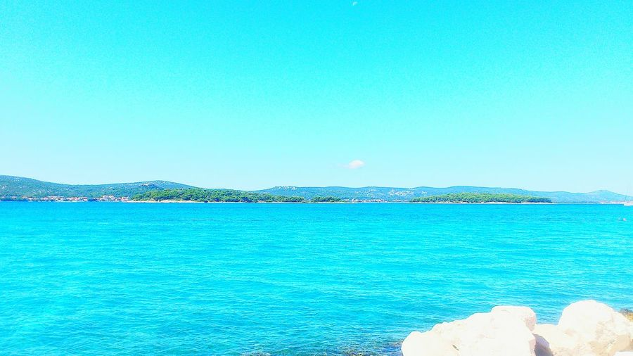 Blue Sea Sky Summer Biograd Na Moru ıslands Nature