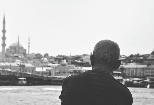 istanblues.. Galata Istanbul Portrait Sea Haliç Bnw Blackandwhite City Siyahbeyaz Turkey