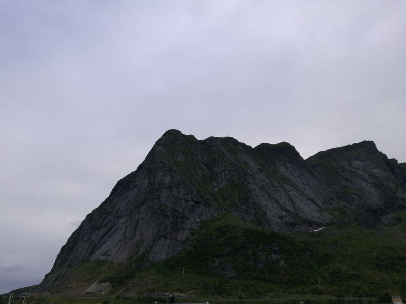 Landscape Cloud - Sky Beauty In Nature No People Mountain Peak Mountain Nature Outdoors Norway Rough Rough Texture Peaks Close-up The Lofoten Islands Power In Nature Beauty In Nature Power Tranquility Scenics Clouds And Sky