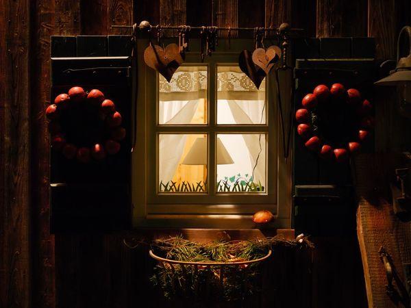 #geeste #kräuterhof Illuminated Window No People Indoors  Curtain Architecture
