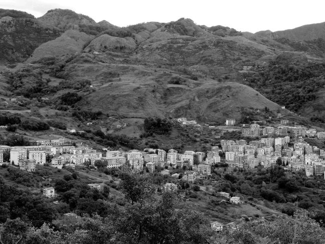 View of the village of Verbicaro and the Pollino mountains Black & White Cityscape Italia South Italy Architecture Black And White Black And White Photography Building Exterior Calabria Landscape Mountain Mountain Range Nature No People Outdoors Town Travel Destination Tree Urban Landscape Urban Skyline Verbicaro
