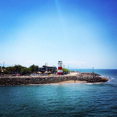 Lighthouse Sea Puntarenas Costa Rica Sunny Day