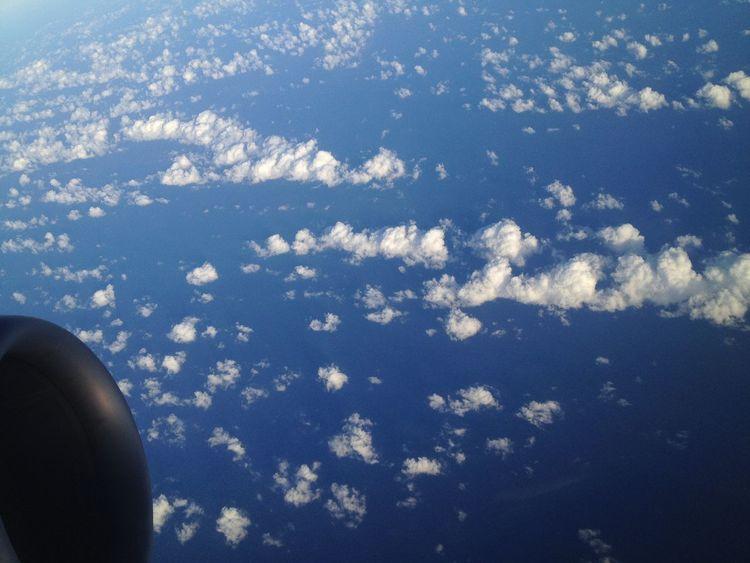 Aerial Shot Aerial View Blue Sky Clouds Deceptively Simple Flight Flight Wings Glitch OpenEdit Sky Travel Turbine