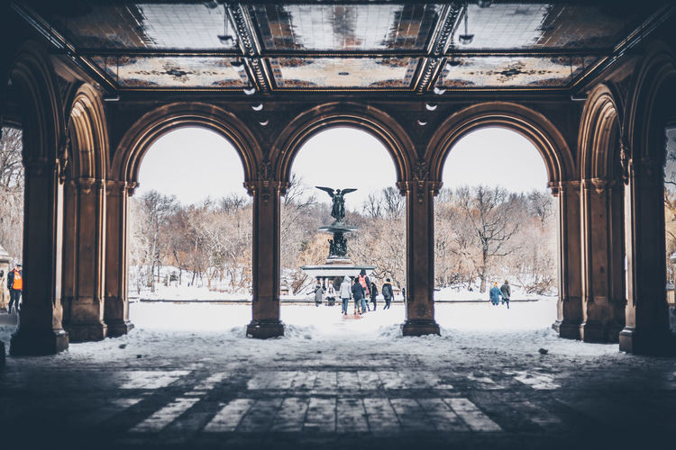Arch Architecture Built Structure City Day Men Outdoors Real People Sky Snow