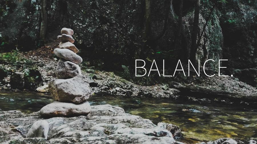 Balance. Rock Balance Statue Water Text Flowing Water Stream Stream - Flowing Water Flowing Power In Nature First Eyeem Photo