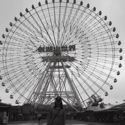 Yunlin, Taiwan Fancyworld Janfusan Themepark Ferriswheel Amusement Park Leisure Activity Ferris Wheel Arts Culture And Entertainment Real People Amusement Park Ride Low Angle View Day Big Wheel Outdoors Architecture People