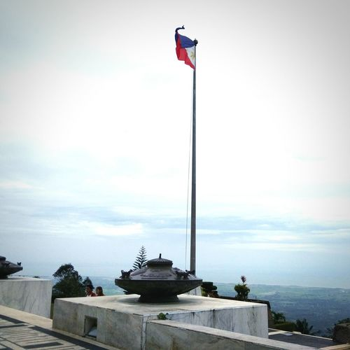Flag Patriotism Cloud - Sky Outdoors Nature Filipino Stories Vacations Historical Site Historic Buildings  Deathmarch
