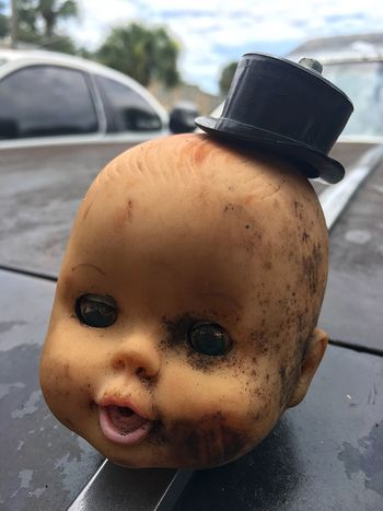 Weird No People Babydoll  Strange Creepy Hoodornament