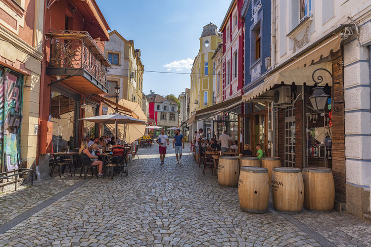 Street cafes in