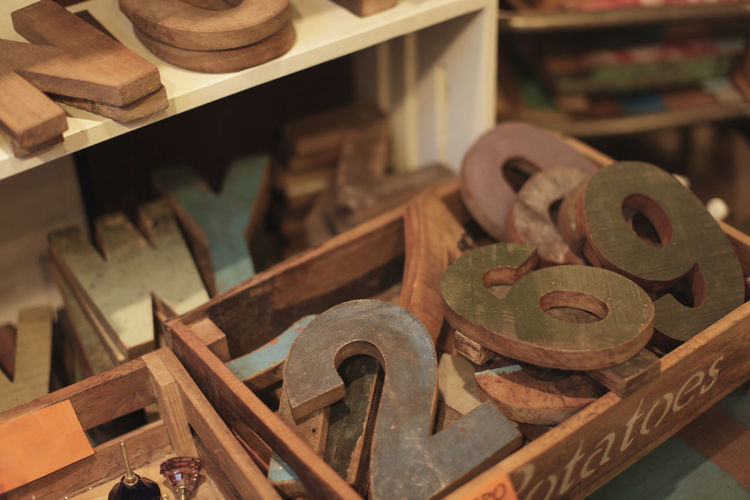 Wooden numbers and letters Abundance Box Letter No People Number Numbers Rusty Shabby Shopping Wooden Box Beautifully Organized