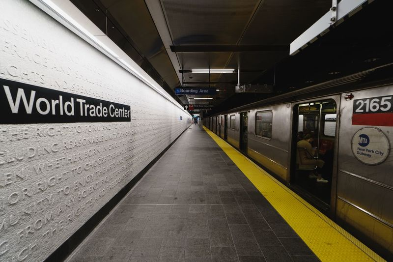 Text Architecture Public Transportation Communication Transportation Western Script Direction Subway The Way Forward Indoors  Rail Transportation Subway Station Built Structure Sign Information Ceiling No People Diminishing Perspective Subway Train Station