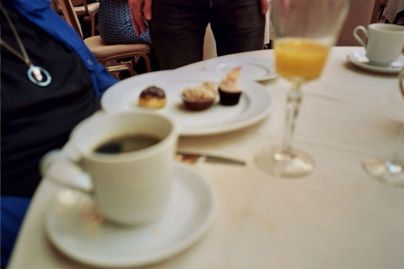 On the table The Palace Hotel Birthday Brunch 35mm Film Real Film