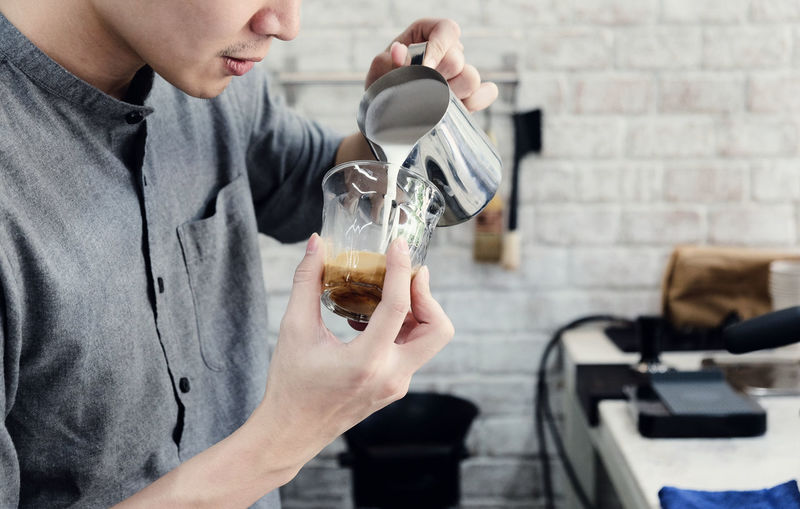 Man Preparing Coffee