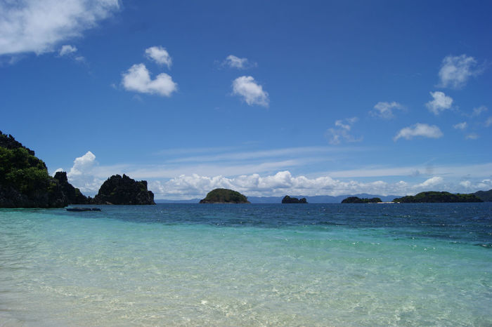 Caramoan beach Caramoan Island, Camarines Sur Philippines Photos Beauty In Nature Blue Camarinas Sur Day Idyllic Nature No People Outdoors Scenics Sea Sky Tranquil Scene Tranquility Water Waterfront Lost In The Landscape