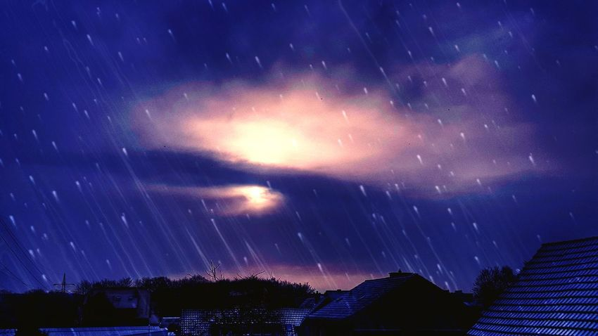 Winternights....❄ View Out Of The Window Winter Dark Season Goodnight Snow Over The Roofs Shades Of Winter Star - Space Night Astronomy Galaxy Long Exposure Milky Way Space Scenics Sky Constellation Outdoors Beauty In Nature Landscape Nature Low Angle View Roof House