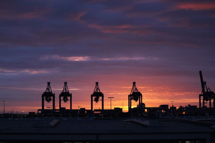 No filter needed, Hamburg Port in the Morning Nofilterneeded Hamburg Sunrise