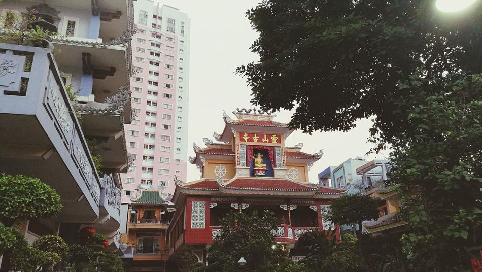 Saigon Ho Chi Minh City Modernvstraditional City Pogoda Sky Building Exterior Built Structure City Tree Architecture Travel Destinations No People Place Of Worship Outdoors Day