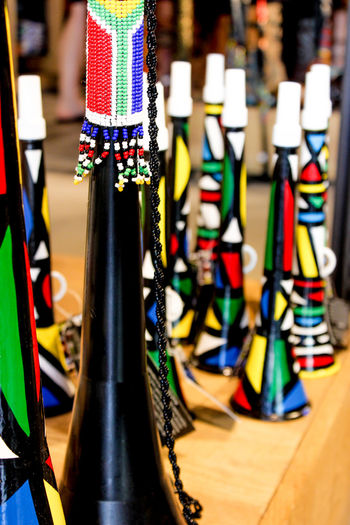 Close-up Day Focus On Foreground Indoors  Multi Colored No People Variation Vuvuzela
