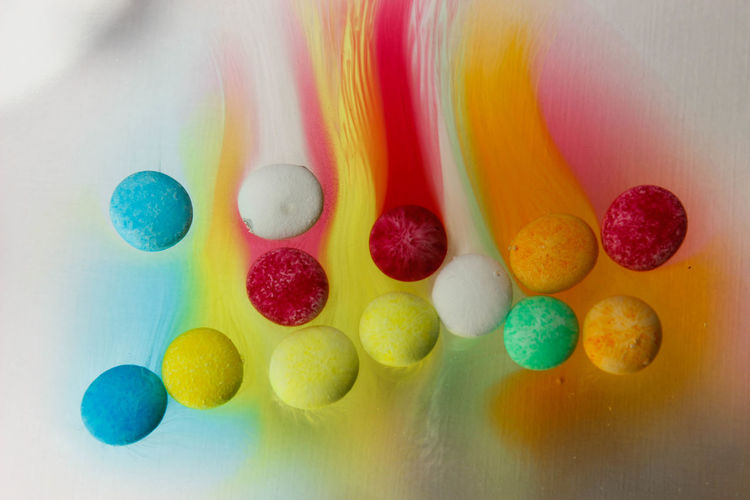 Art And Craft Candy Choice Close-up Creativity Directly Above Food Indoors  Large Group Of Objects Multi Colored No People Pastel Colored Shape Still Life Studio Shot Sweet Sweet Food Table Variation Yellow