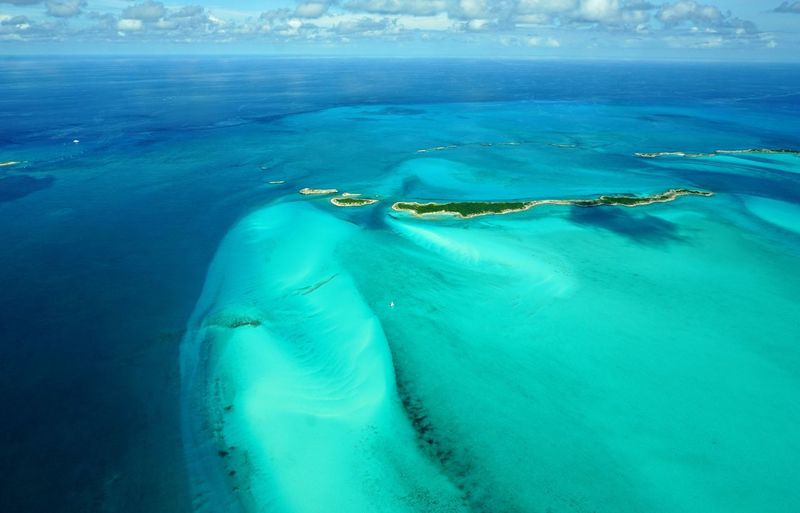 The northern Exuma Cays Bahamas Beauty In Nature Sea Islands Outdoors Exuma Blue Clear Water Minimal Aerial Photography Nature Sea And Sky Aerial Shot The Natural World Travel Photography