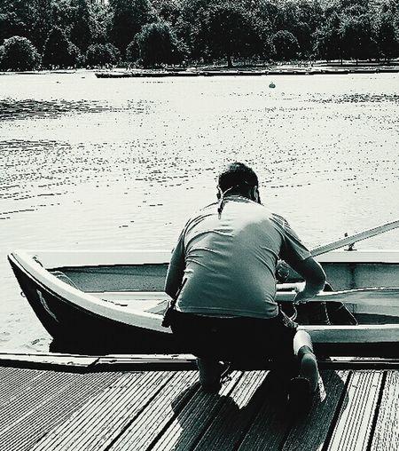 Boatkeeper Serpentine @hyde Park Boat Oars