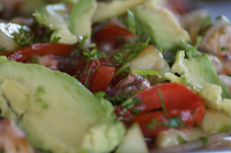 #aguacate #cocktails #lunchtime #mariscos #salads #seafood #shrimp #Tungar #villahermosa Close-up Food Ready-to-eat Salad Serving Size Tomato Vegetable