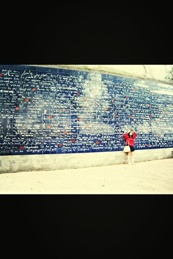 Love Messages On A Wall In Paris