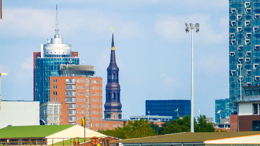 Unusual buildings in hamburg