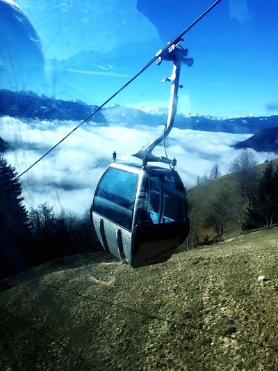 Ski Lift Skiing Cold Days Sunshine ☀ Cloudy Mountain View