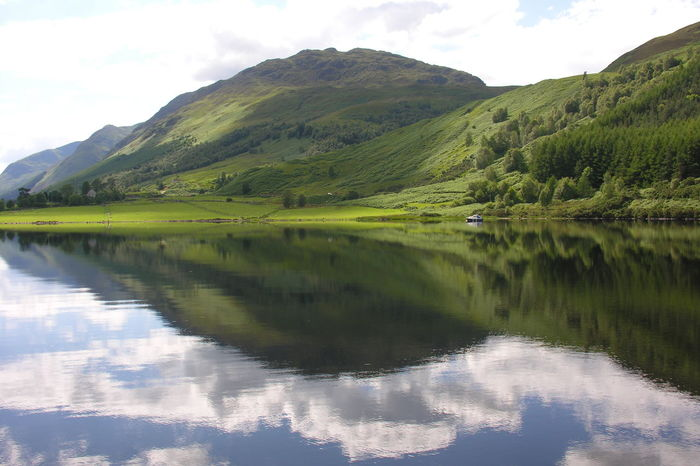 Reflection Lake Landscape Nature Mountain Cloud - Sky Water Outdoors Scenics Loch Ness Caledonian Canal Scotland