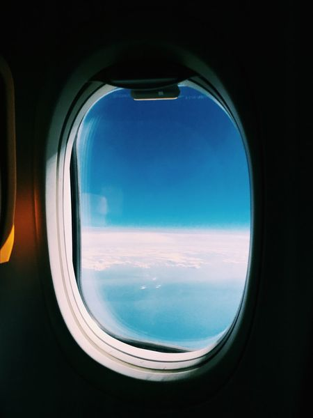 Window Airplane Sky Air Vehicle Circle Cloud - Sky Transportation No People Mode Of Transport Travel Indoors  Day Blue Flying Nature Scenics Beauty In Nature Close-up Commercial Airplane Airplane Wing Sky And Clouds Up In The Air Up In The Sky Up In The Clouds Ryanair EyeEm Selects EyeEm Ready