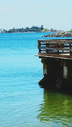 Hidden Gems  Paseo La Princesa San Juan PR Relaxing View Sea And Sky Sea View Reflections Open Edit Shapes And Forms Seascape Blue Sky Wooden Bridge Light And Shadow Colour Of Life Color Palette