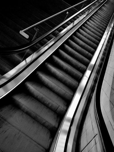 Welcome To Black Metal No People Close-up Indoors  Composition Abstract Art Creativity Blackandwhite Station Platform Stairs_collection Contrast/exposure