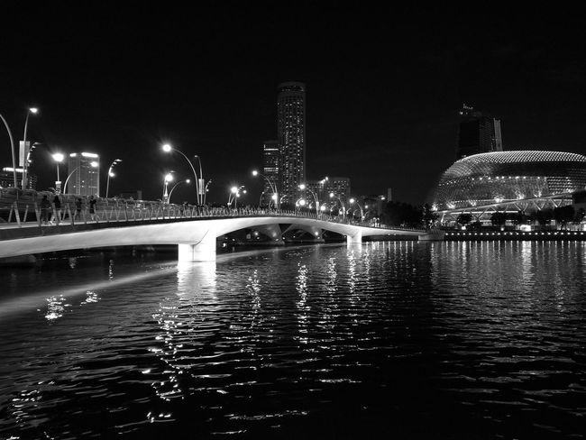 City Life Blackandwhite Water Architecture Night Building Exterior