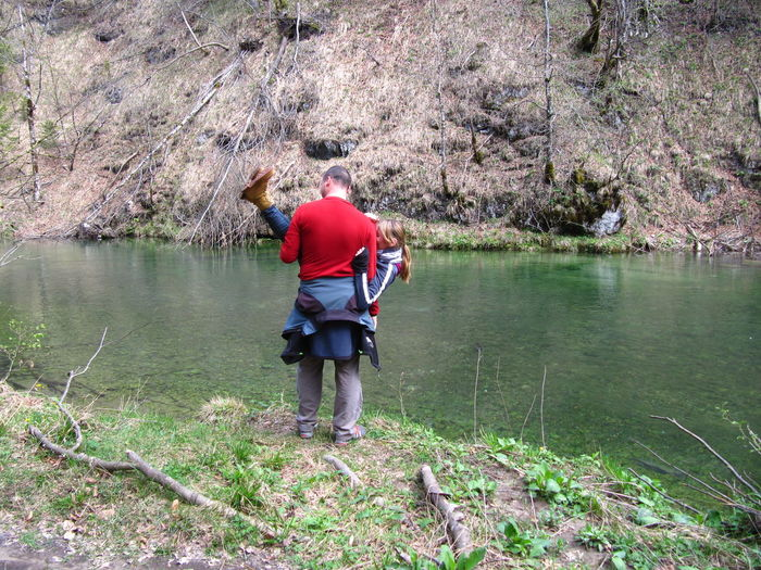 Man standing in lake