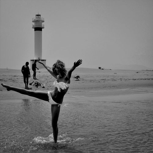 Enjoying Life Hello World Blackandwhite Sea