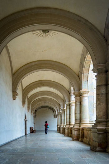 Arched Halls Cathedral Church Tourist Arch Arched Architecture Building Built Structure Ceiling Collumns Colonnade History Indoors  Lifestyles Tourism Traditional Visitors
