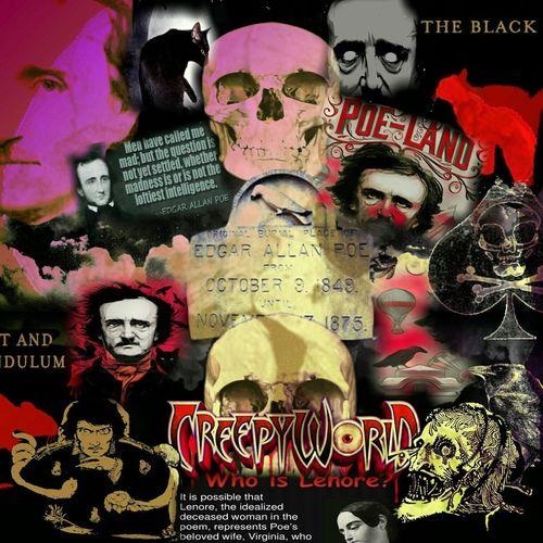 Edgar Allen Poe Writer Horror Baltimore Maryland The Raven Collage Collageartwork