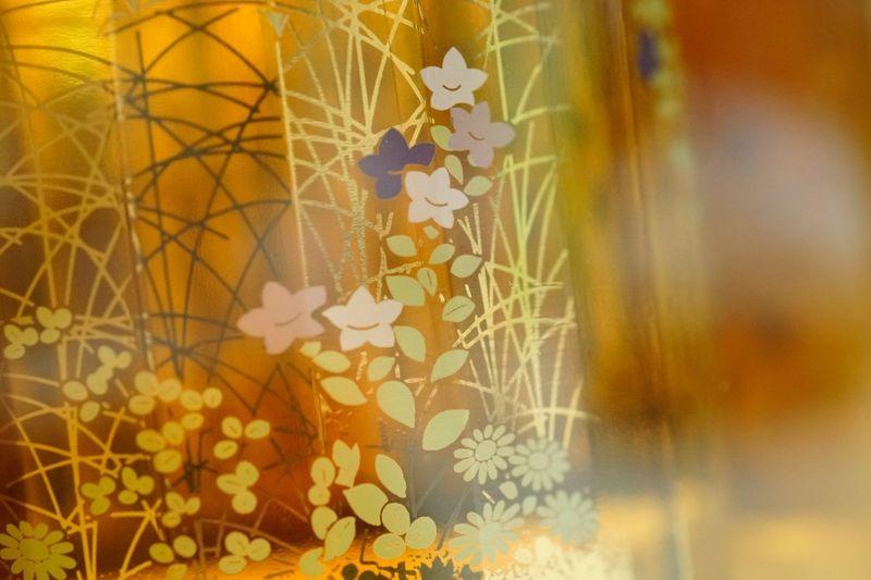 Hibiki whiskey - Sakura bottle. Multi Colored Creativity Design Full Frame Backgrounds Yellow No People Pattern HIBIKI 響 Whiskey 威士忌 Sakura EyeEmNewHere