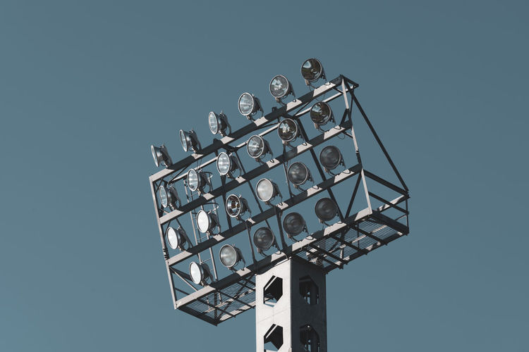 stadium floodlight Floodlight Stadium Pylon City Urban Skyline Close-up Outdoor Sport Competition Match - Sport Tall - High Technology Metal Connection Architecture Electrical Equipment Electricity  Built Structure Sport Equipment Glass - Material Bulb Headlight Headlights