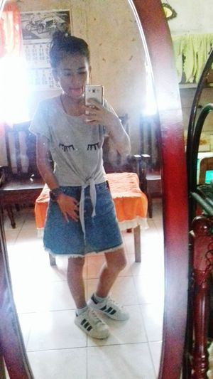 Terno😀 Skirt And Tie knot Shirt😂 bnew and never been used Young Women First Eyeem Photo