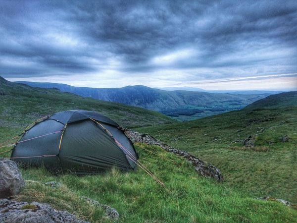 Mountain Scenics Nature Camping Landscape Tent Mountain Range Tranquility Outdoors Beauty In Nature No People Travel Destinations Vacations Day Architecture Sky hilleberg adventure lake district The Great Outdoors - 2017 EyeEm Awards
