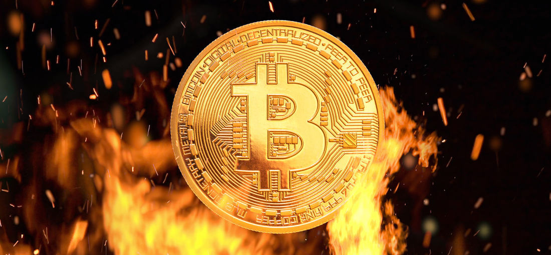 Bit Coin Bit  Bitcoin Fire Burning Crypto Currency Business Hot Symbol Internet Bit-coin Coin Money Evil Investment Currency Gold Financial Cash Flames Market Concept Virtual Pay RISK Economy Peer-to-Peer Shining E-commerce Shopping Solution E-business Payment Digital Currency Trade Commerce International Finance Digital Sign Animation Object Dark Electronic Golden Mining Illustration Composition Virtual Money Banking BTC Hell