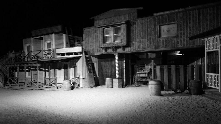 Old West  Old Tucson Studios Souther Arizona Blackandwhite Black And White Collection  Nightime Black&white Architecture Movie Set