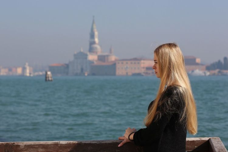 Mary My Daughter Girl Venice, Italy Venice Traveling Travel Portrait Sea Sea And Sky Architecture Architecture_collection Young Adult Portrait Of A Woman Blond Hair Long Hair The Portraitist - 2017 EyeEm Awards The Portraitist - 2017 EyeEm Awards