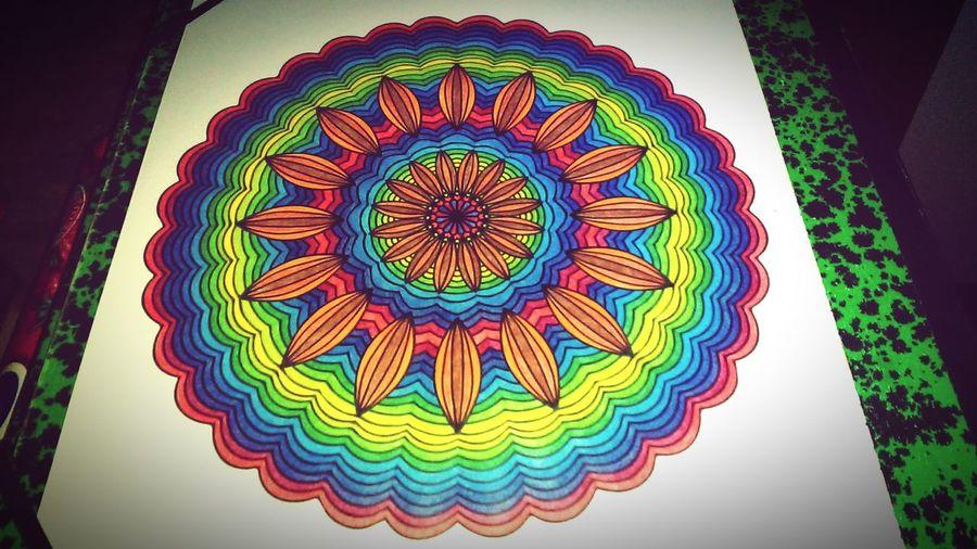 Relaxing Feeling At Home Mandala Enjoying Life Art, Drawing, Creativity Art Therapy Colors Crayons Colorful Zen